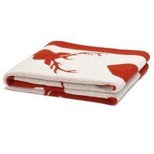 Eco Designer Stag Silhouette Throw Blanket