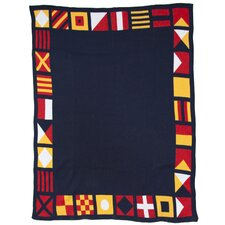 Eco Designer Nautical and Border Flags Throw Blanket