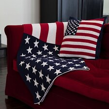 USA Flag Cotton Throw Blanket
