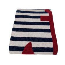 Eco French Stripe Cotton Yarn Throw