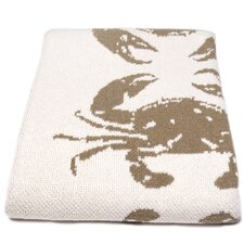 Eco Crab Cotton Throw Blanket