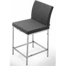 "Aria Chrome 24"" Counter Stool"