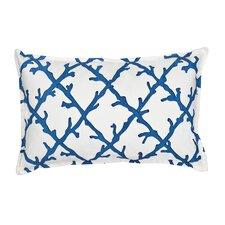 Lattice Cotton Canvas Lumbar Pillow