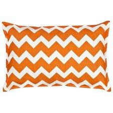Chevron Cotton Canvas Lumbar Pillow