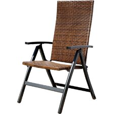 Hand Woven Polyethylene Wicker Outdoor Reclining Lounge Chair (Set of 2)