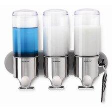 Triple Plastic Adhesive Mount Soap Dispenser