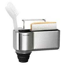 Waschbecken-Caddy aus gebürstetem Edelstahl