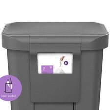 45-Litre Rectangular Step Pedal Bin with Liner Pocket