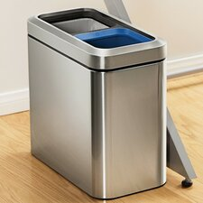 Bins 10-Litre Slim Open Recycler with Removable Liner