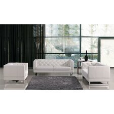 Divani Casa Windsor Modern Tufted Eco-Leather Living Room Set