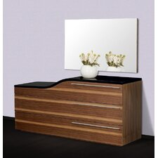 Modrest Portofino 3 Drawer Curved Dresser
