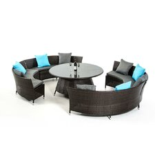 Renava Luxemburg 5 Piece Dining Set with Cushions