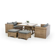 Renava Riviera 7 Piece Dining Set with Cushions