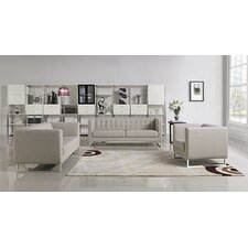 Divani Casa 3 Piece Dominic Living Room Set