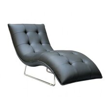 Divani Casa Leather Chaise Lounge