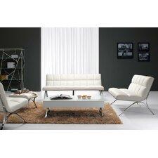 Divani Casa 3 Piece Antimony Modern Leatherette Sofa Set