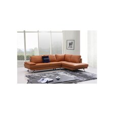Divani Casa Knight Modern Leather Right Sectional