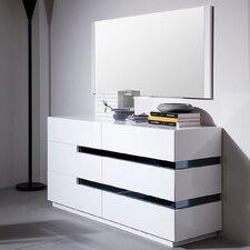 Modrest Polar 6 Drawer Dresser with Mirror