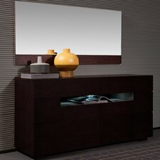 Modrest 6 Drawer Dresser with Mirror