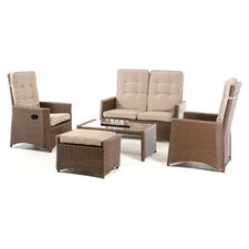 Renava Lugo Outdoor 9 Piece Lounge Seating Group with Cushion