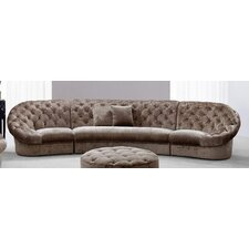 Divani Casa Cosmopolitan Mini Sectional Sofa