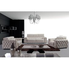 Divani Casa Lumy 3 Piece Leather Living Room Set