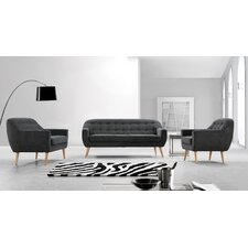 Divani Casa Afton 3 Piece Living Room Set