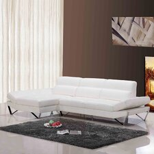 Divani Casa Apache Leather Left Hand Facing Sectional