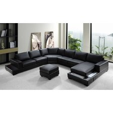 Divani Casa Leather Sectional