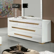 Modrest Juliet 3 Drawer Dresser with Mirror
