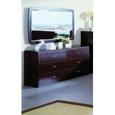 Modrest 6 Drawer Dresser with Mirror