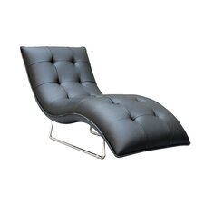 Divani Casa Leather Chaise Lounge