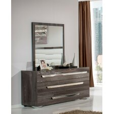 Modrest Capulet 3 Drawer Dresser with Mirror