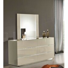 Modrest Luxor 6 Drawer Dresser with Mirror