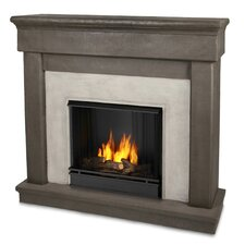 Cast Mantel Cascade Wall Mount Gel Fuel Fireplace
