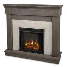 Cast Mantel Cascade  Wall Mount Electric Fireplace