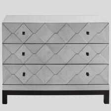Carlyle 3 Drawer Mirrored Dresser