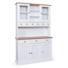 Solid Pine China Cabinet