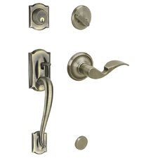 Camelot Double Cylinder Entrance Leverset, Exterior Handle Only