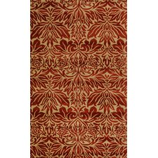 Flora Red Area Rug