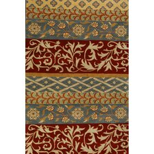 Flora Green/Red Area Rug