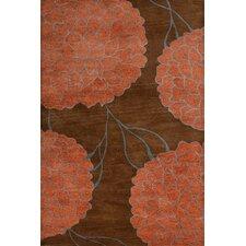 Flora Brown Area Rug