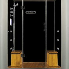 "Royal Care 59"" x 32"" x 84"" Pivot Door Steam Sauna Shower"