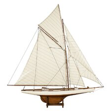 1901 America's Cup Columbia Medium Sail Model Boat