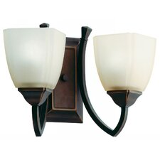 Piedmount Two Light Vanity in Antique Bronze