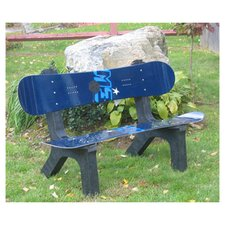 Snow Board Recycled Plastic Garden Bench