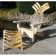 Hockey Stick Adirondack Chair and Ottoman
