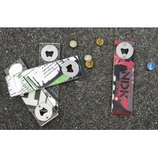 Snow Recycled Board Bottle Opener