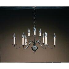 Chandelier 9 Light Candelabra Sockets 2 Tier S-Arms Hanging Chandelier