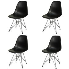 Allen Side Chair with Metal Wire Legs (Set of 4)